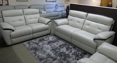 LE MANS  3 seater and 2 seater stone-dark trim £2099 (SWANSEA LEATHER STORE) - Click for more details
