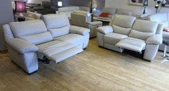 MARINO  double electric  3 seater and 2 seater  stone £2399 (SWANSEA LEATHER STORE) - Click for more details