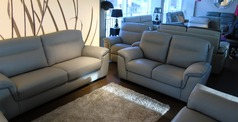 Valencia 3 seater and 2 seater light grey £1499 (SWANSEA SUPERSTORE) - Click for more details
