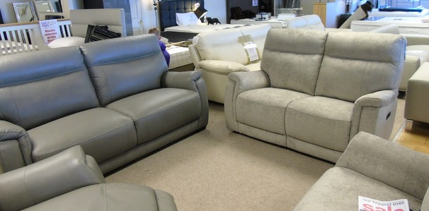 Granada 3 seater and 2 seater mid grey £1699 (CARDIFF SUPERSTORE)