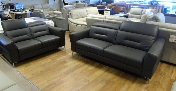 Teseo 3 seater and 2 seater dark grey £3699 (CARDIFF SUPERSTORE)