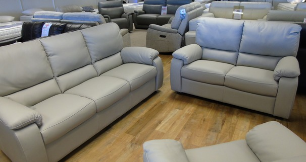 Chiarra 3 seater and 2 seater light grey £1999 (CARDIFF SUPERSTORE)