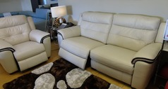 Miami electric recliner 3 seater and 1 chair bisque £2199 (SWANSEA SUPERSTORE) - Click for more details