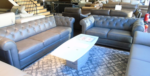 Salvo chesterfield grey £2699 (CARDIFF SUPERSTORE)