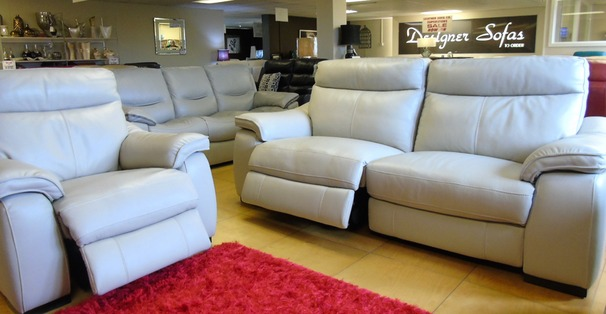 Marseille double electric recliner 3 seater and electric recliner chair £2199 (SWANSEA SUPERSTORE)