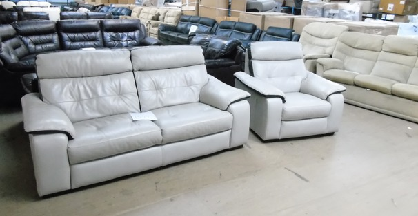 Le mans 3 seater and 1 chair stone £499 (SWANSEA SUPERSTORE)
