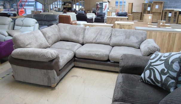G range dark beige /brown cord fabric corner £599 (SWANSEA SUPERSTORE)