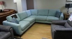 Cirrus light blue corner suite £599 (SWANSEA SUPERSTORE) - Click for more details