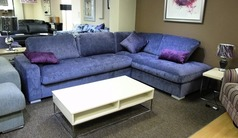 Colorado purple fabric corner suite £799 (SWANSEA SUPERSTORE) - Click for more details