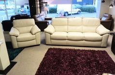 Pescaro 3 seater and  1 chair cream £799 (SUPERSTORE) - Click for more details