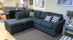 Cleo corner suite dark gery fabric £799 (SWANSEA SUPERSTORE) - Click for more details
