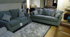 Vestra 3 seater and 2 seater light tgrey fabric  £999 (SWANSEA SUPERSTORE)  - Click for more details