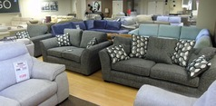 Loreen 3 seater, 2 seaer and chair grey £1399 (SWANSEA SUPERSTORE) - Click for more details