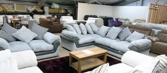 G range corner and 2 seater sofa in grey cord £799 (SUPERSTORE) - Click for more details