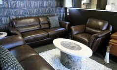 Julian 3 seater and 1 chair brown leather £1499 (SWANSEA SUPERSTORE) - Click for more details