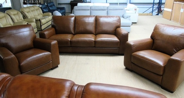 PRATO 3 seater and 2 chairs Tan £999 (SWANSEA SUPERSTORE)