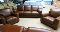 PRATO 3 seater and 2 chairs Tan £999 (SWANSEA SUPERSTORE) - Click for more details