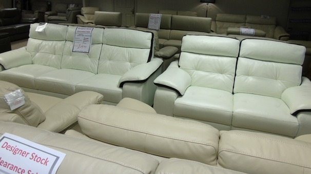 Lyon 3 seater and 2 seater recliner   white with purple stripe £999 (CARDIFF)