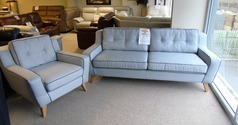 Peroda 3 seater and 1 chair grey fabric £499 (CARDIFF SUPERSTORE) - Click for more details