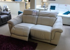 LIPARI 2 seater electric recliner stone £599 (CARDIFF SUPERSTORE) - Click for more details