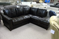 Lisbon corner suite vintage dark brown £899 (CARDIFF SUPERSTORE) - Click for more details