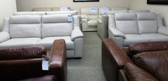 Kent 3 seater and 2 seater  stone grey £1499 (SWANSEA LEATHER STORE) - Click for more details
