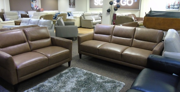 San Remo 3 seater and 2 seater dark beige  £1249 (SWANSEA SUPERSTORE)