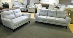 Savona 3 seater and 2 seater  grey £1299 (SWANSEA SUPERSTORE) - Click for more details