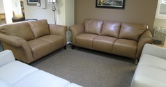 Palermo 3 seater and 2 seater deep beige £1499 (SWANSEA SUPERSTORE) - Click for more details