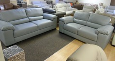 Softaly 3 seater and 2 seater grey £2299 (SWANSEA SUPERSTORE) - Click for more details