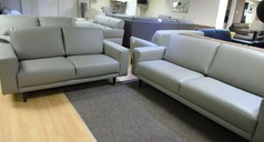 Vittoria 3 seater and 2 seater mid grey £1349 ( SWANSEA SUPERSTORE) - Click for more details