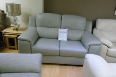 Monza 2 seater sofa light grey £499 (SWANSEA SUPERSTORE) - Click for more details