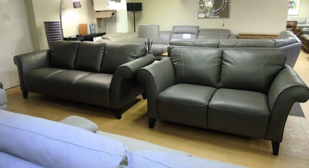 Palermo 3 seater and 2 seater dark grey £1499 (SWANSEA SUPERSTORE)