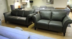 Palermo 3 seater and 2 seater dark grey £1499 (SWANSEA SUPERSTORE) - Click for more details