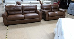 Mira 3 seater and 2 seater vintage tan £1399 (SWANSEA SUPERSTORE) - Click for more details