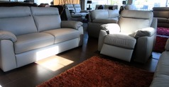 Latina 3 seater+ 1 electric recliner chair £999 (SWANSEA SUPERSTORE) - Click for more details
