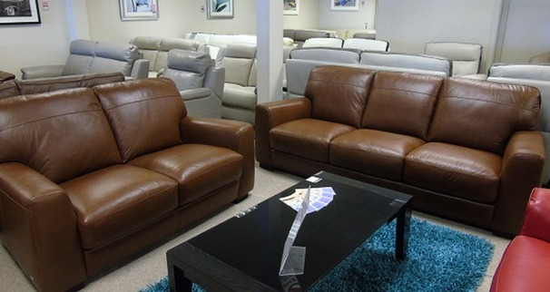 Porto 3 seater and 2 seater vintage tan £1499 (CARDIFF SUPERSTORE)