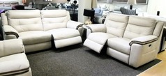 Miami electric recliner 3 seater and 2 seater bisque f £999 (CARDIFF SUPERSTORE) - Click for more details