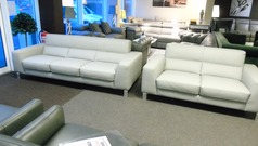 Simon 3 seater and 2 seater light grey £1999 (CARDIFF SUPERSTORE) - Click for more details