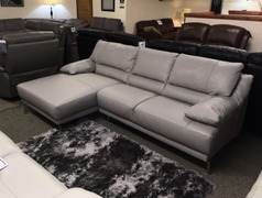 Susa chaise sofa grey £999 (SWANSEA LEATHER STORE) - Click for more details