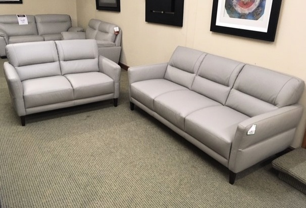 San Remo 3 seater and 2 seater grey  £1249 (SWANSEA LEATHER STORE)