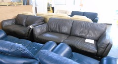 Natuzzi Carmen 3 seater and 2 seater brown £199 - Click for more details