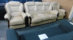 Gradi Gemma 3 seater and 2 chairs £199 - Click for more details