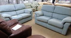 Grey Fabric 3 seater and 2 seater £399 - Click for more details