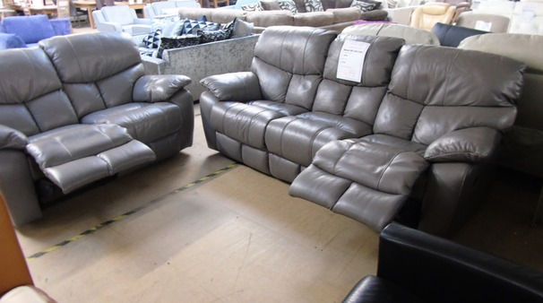 Pembroke manual recliner 3 seater and 2 seater grey  £999 (SWANSEA SUPERSTORE)