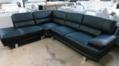 Fraisse black corner suite right arm £599 (SWANSEA SUPERSTORE) - Click for more details