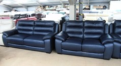 Charlotte 3 seater and 2 seater navy blue £1799 (SWANSEA  SUPERSTORE) - Click for more details
