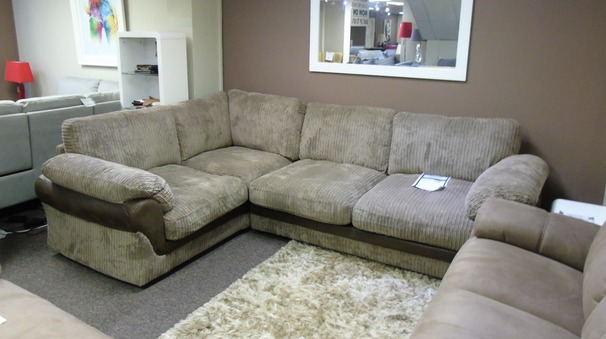 G range corded mink fabric corner £499 (SWANSEA SUPERSTORE)