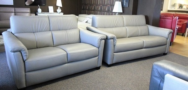 OSTIA 3 seater and 2 seater stone hide £2499 (SWANSEA SUPERSTORE)