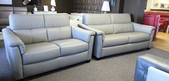 OSTIA 3 seater and 2 seater stone hide £2499 (SWANSEA SUPERSTORE) - Click for more details